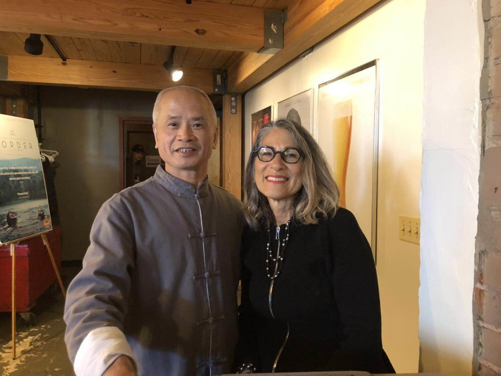 Dr. Wu and Producer Michele Vinson
