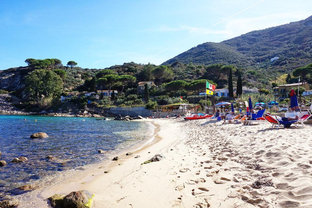 la spiaggia dell'arenella, Isola del Giglio