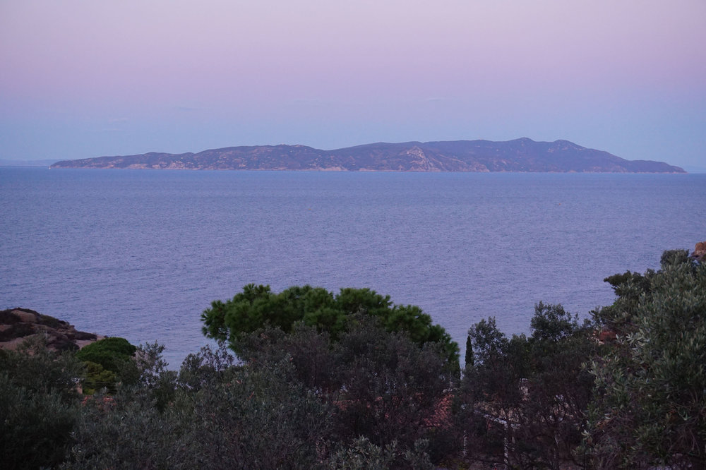 villa Sunset view