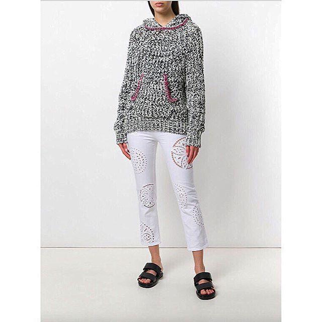 trés cool: @isabelmarant weldon knit + ruper stretch broderie pant #chalkcurates #isabelmarant #chic