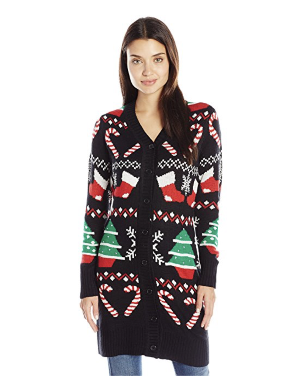 My Christmas sweater is long gone, but it looked an awful lot like this...only tackier.