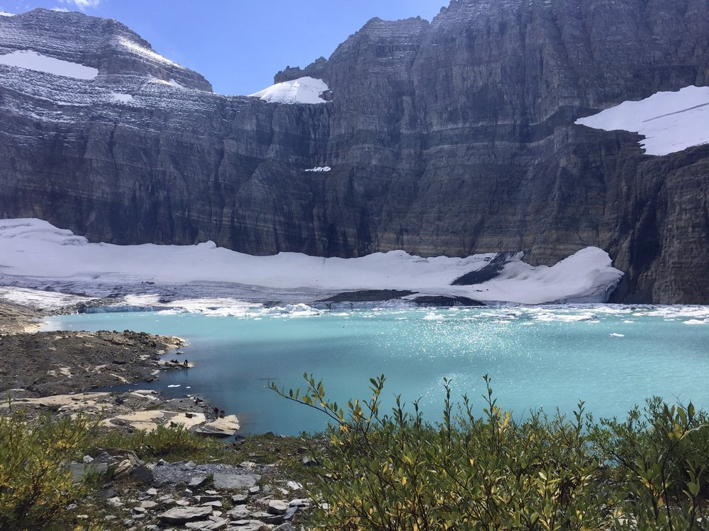This is the reward you get when you hike the Grinnell Glacier trail. Worth every second of that uphill climb. Just look at that glacial water!
