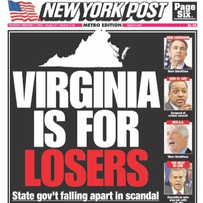 We're in a spot of bother right now in Virginia. Still wouldn't want to live in New York.