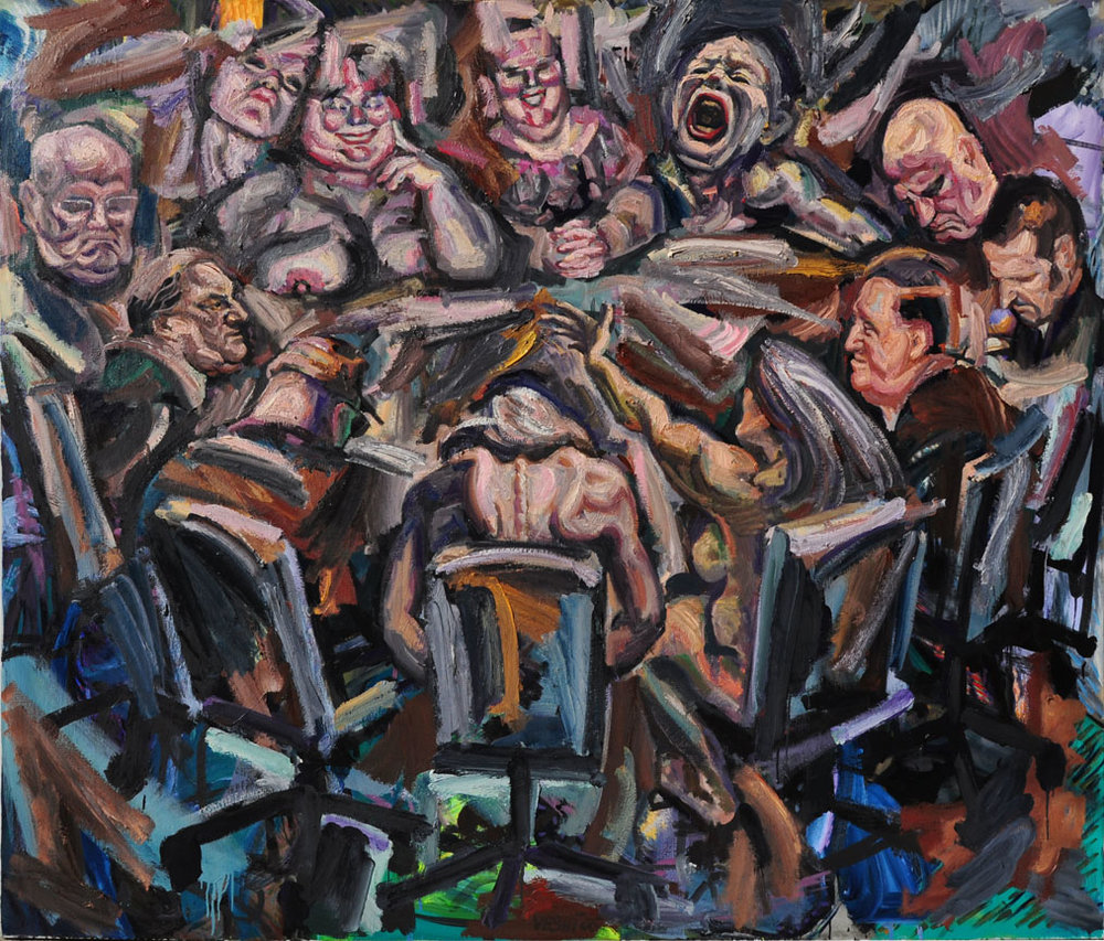 Around the Table, 2006. Oil on canvas, 66 inch x 78 inch