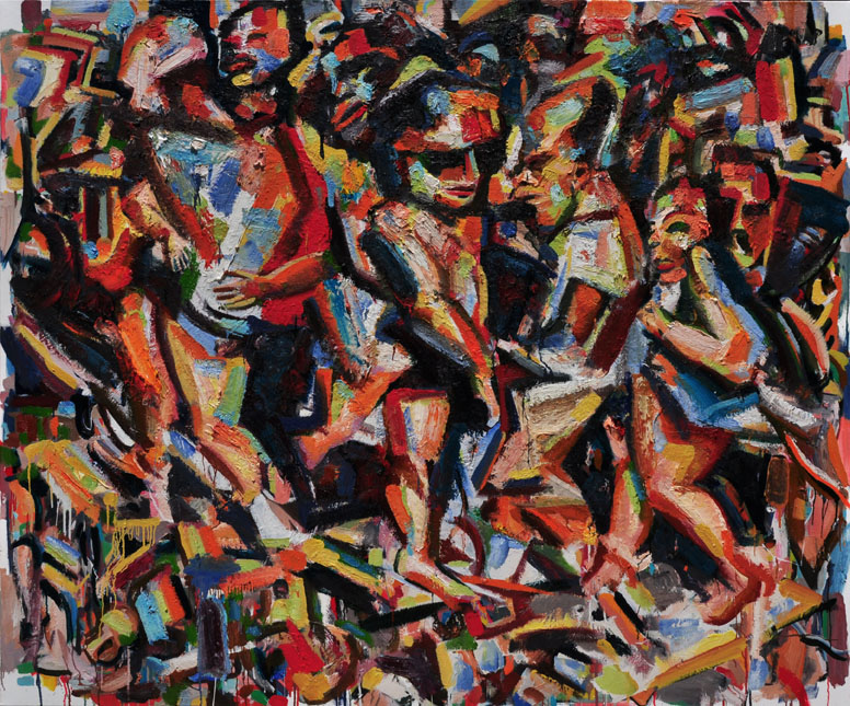 Rush Hour, Summer Time, 2010-13. Oil on canvas, 66in x 78in.jpg