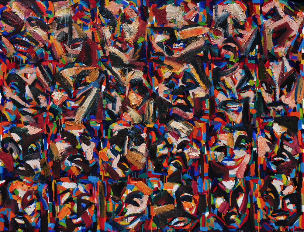 The Wall, 2009 - 13. Oil on canvas, 62 inch x 81 inch
