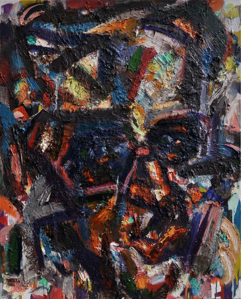 Kadare, 2014. Oil on canvas, 40 inch x 32 inch