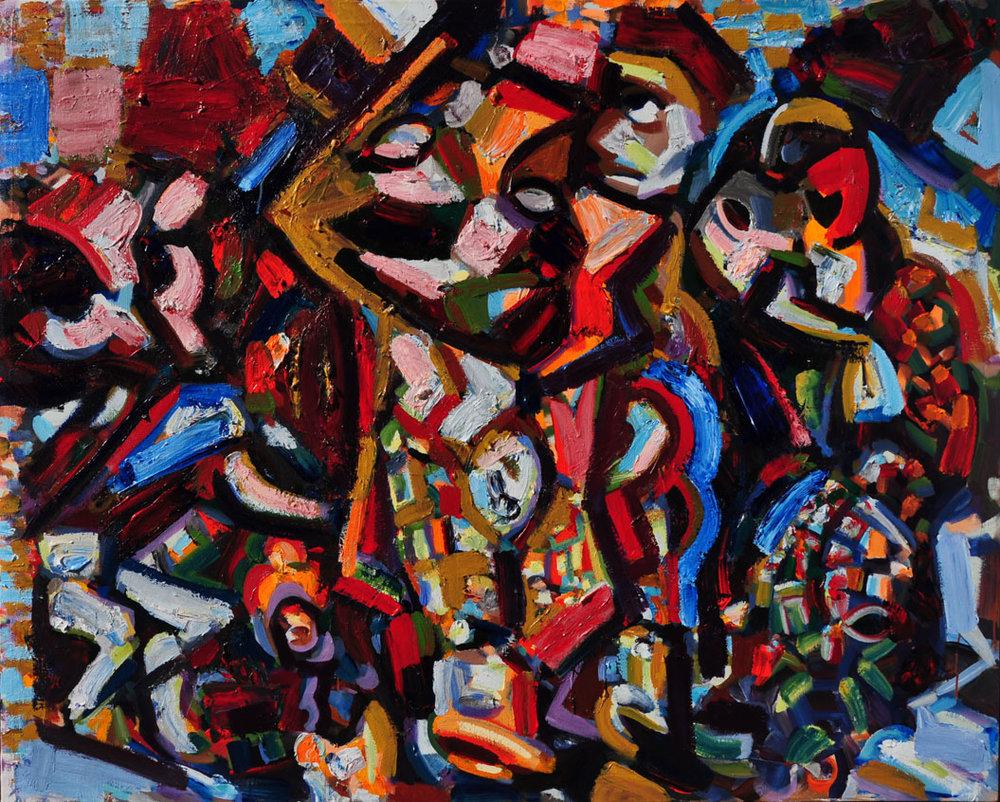 The Dwarf, 2014, Polymer emulsion on canvas, 53 inch x 67 inch