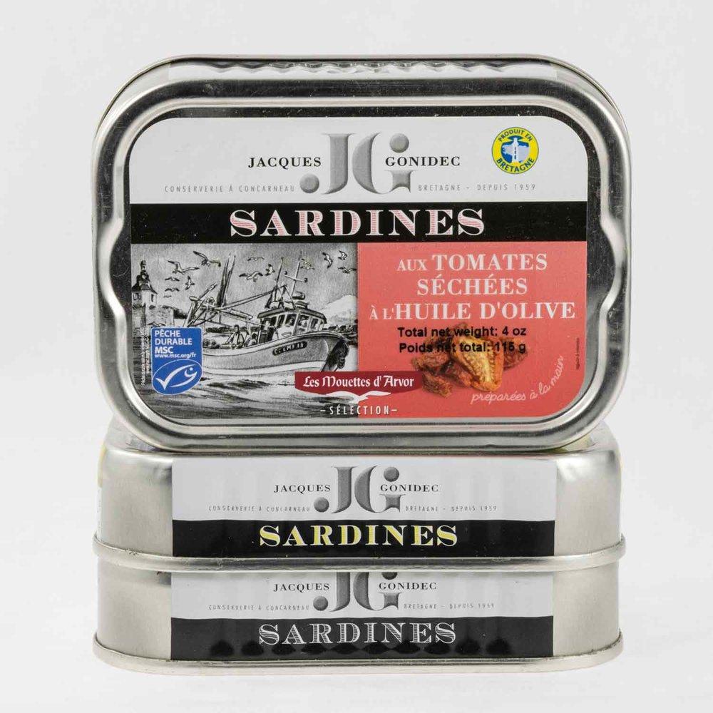 JACQUES GONIDEC, SARDINES w. TOMATO