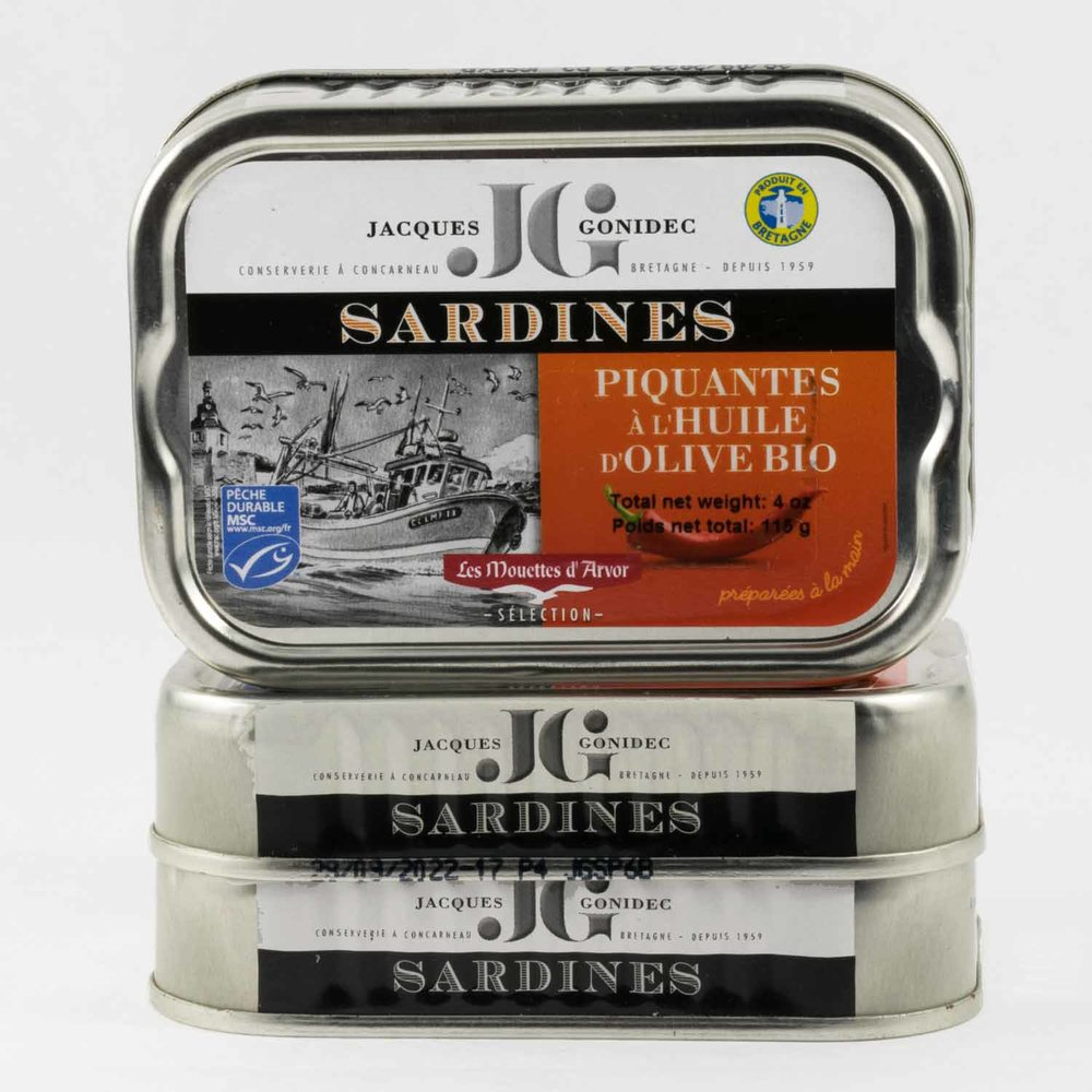 JACQUES GONIDEC, SARDINES w. CHILE & OLIVE OIL