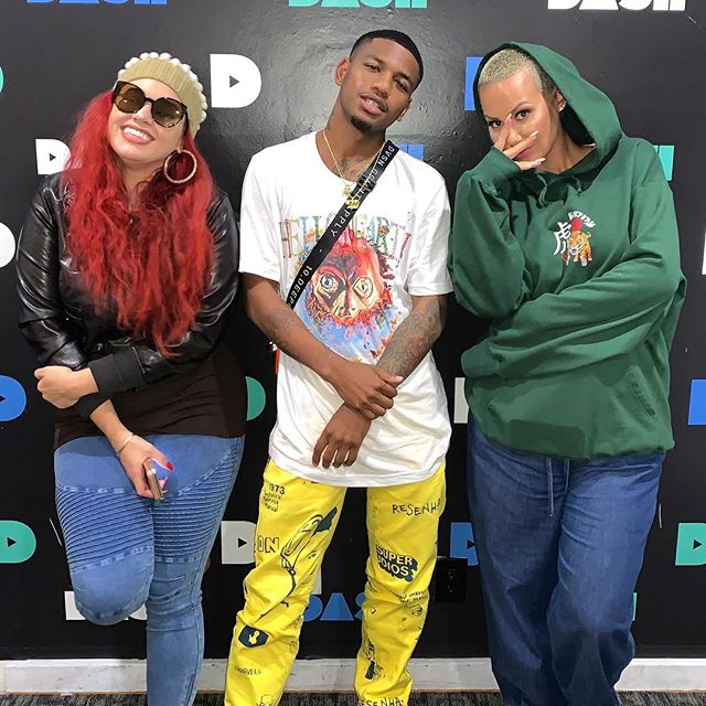 Me and @amberrose talked about having threesomes , being homeless & hygiene,what's next for The Falcon all on @marisaexplains . New podcast episode Monday . Finnam