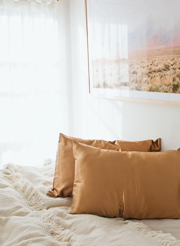 Grace Eleyae Bronze Satin Pillow Case