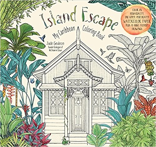 Island Escape: My Caribbean Coloring Book Paperback