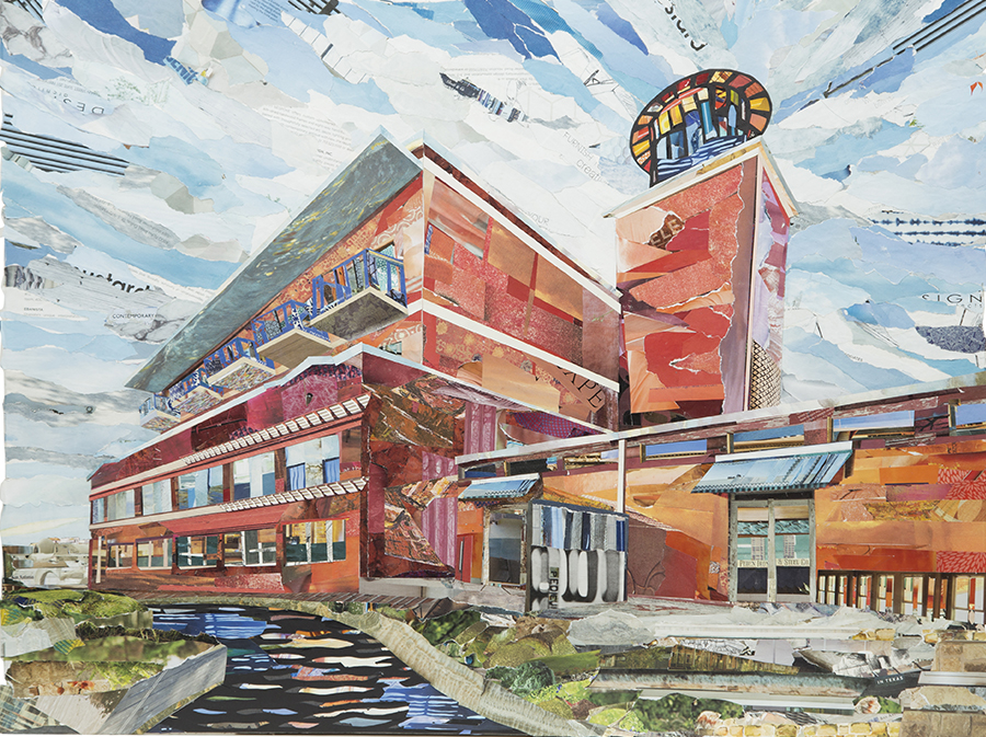 Artist's Perspective: Steel House, San Antonio, TX 24x33