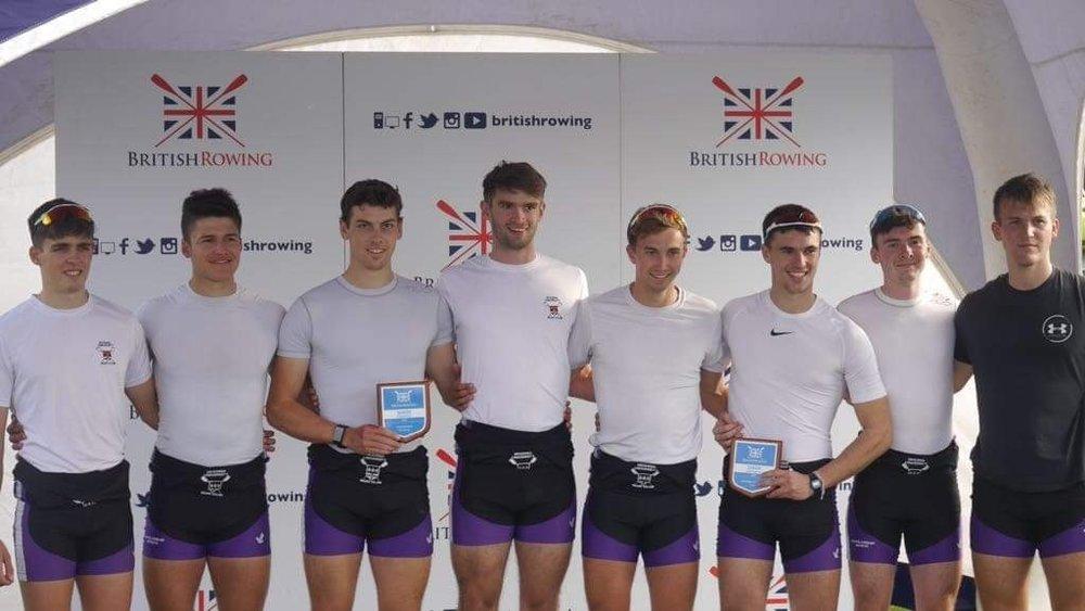 The men's squad at British Senior Rowing Championships.