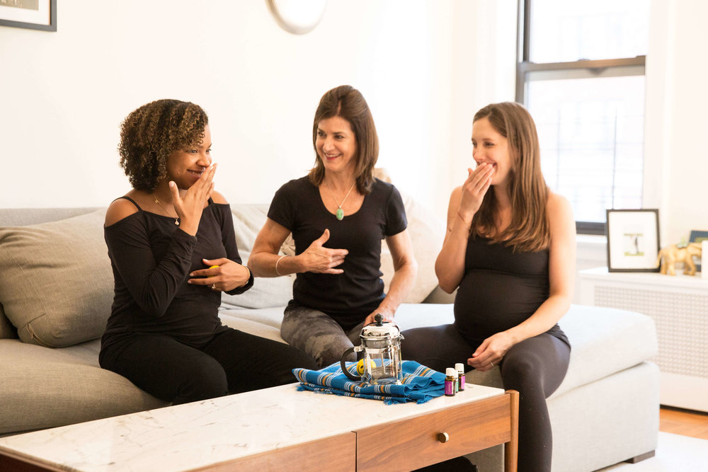 Doula and two pregnant women