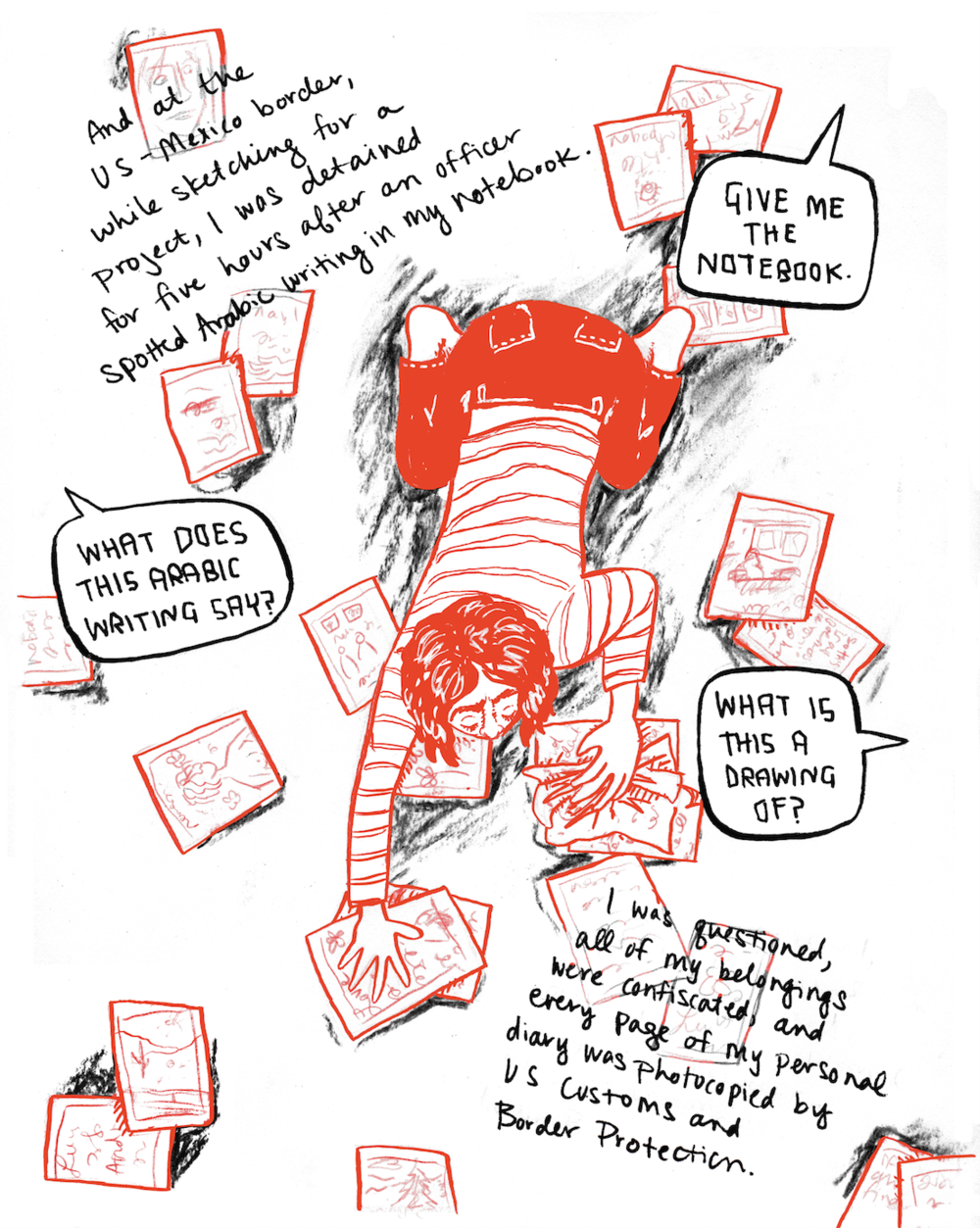 Courtesy of Leila from her experience of being questioned for drawing near the U.S. border