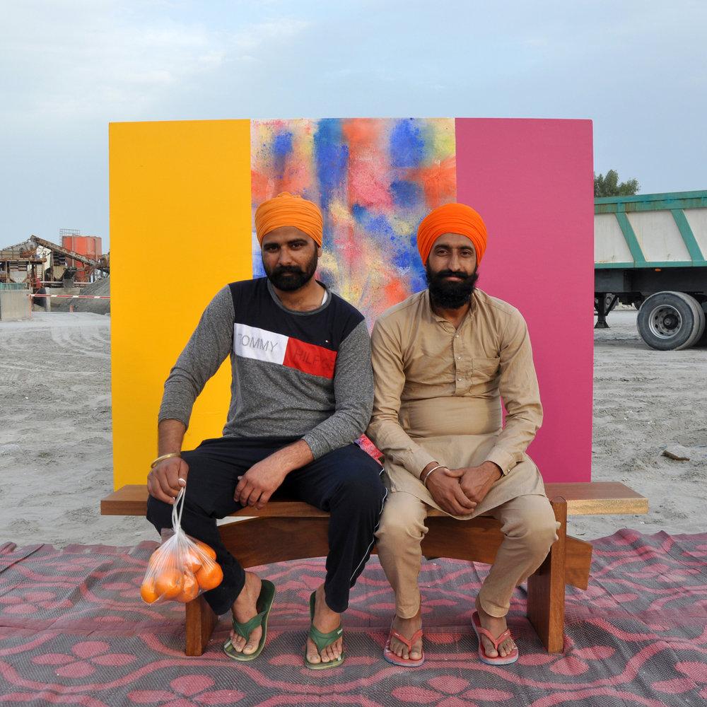 From Photos A La Chair 2 - backdrop artist Jaffar Al Oraibi