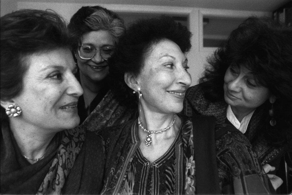 Portrait of Islamic Feminism scholar and sociologist  Fatima Mernissi . Source: New York Times