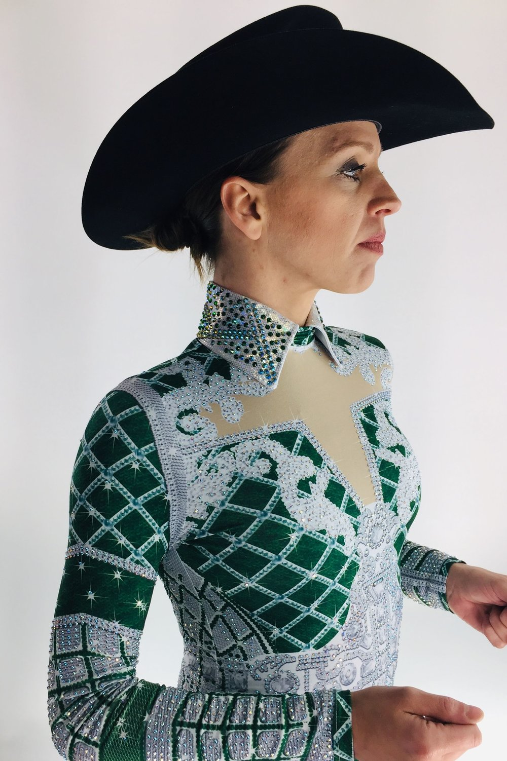 sparkle-ridge-western-show-clothes-green-and-white-print-horse-show-shirt2.jpg