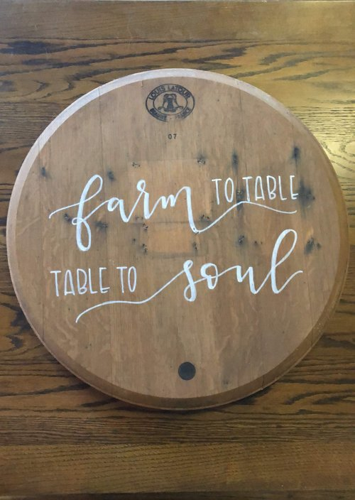 Wine Barrel Head Lazy Susan Handlettering Optional Better