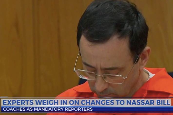 "- Expert weighs in on House changes to Nassar inspired billsAlexandra Ilitch | May 31, 2018Marci Hamilton, the founder and CEO of the national nonprofit CHILD USA has been researching this topic for more than two decades.""Apparently there are huge problems about sex abuse in sports in the state of Michigan or the coaches wouldn't be so fearful,"" she said.""Many states have many more categories and include coaches for example, unlike Michigan,"" Hamilton said.Justice for victims in Michigan is small, she said. So is the number of mandated reporters."