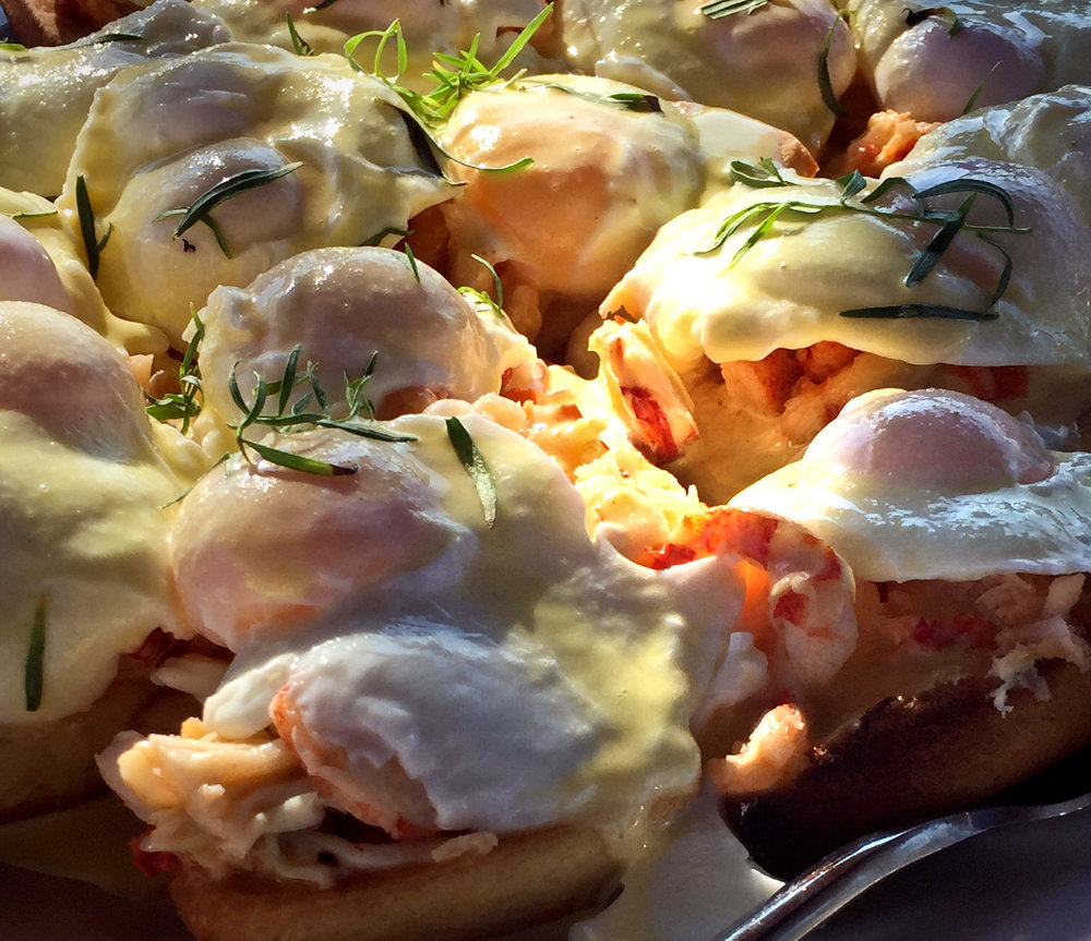 Breakfast lobster Benedict for those who don't get their fill during the lobster bake.