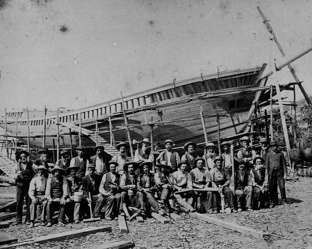 Original build crew, 1871