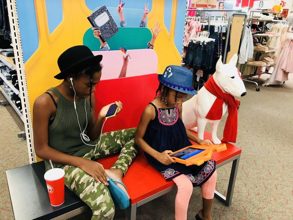 At Target enjoying the tax free holiday