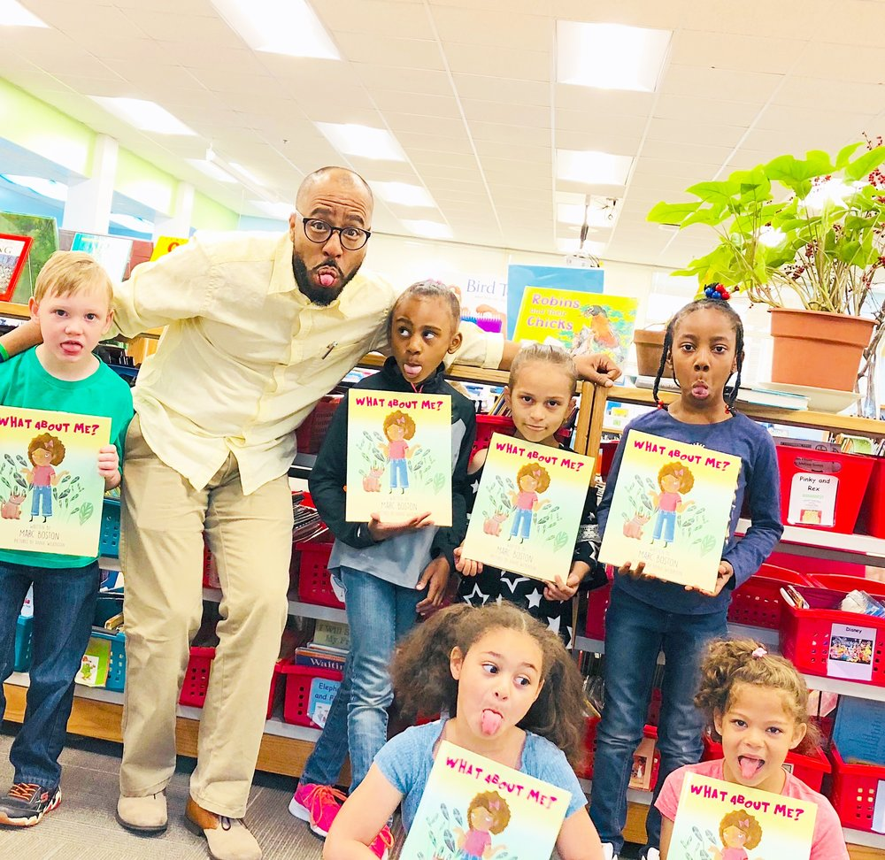 These students are thrilled to receive their copies of our latest book.