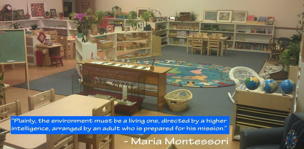 Figure 1 -   This early childhood classroom is rich with specially-designed Montessori learning materials.