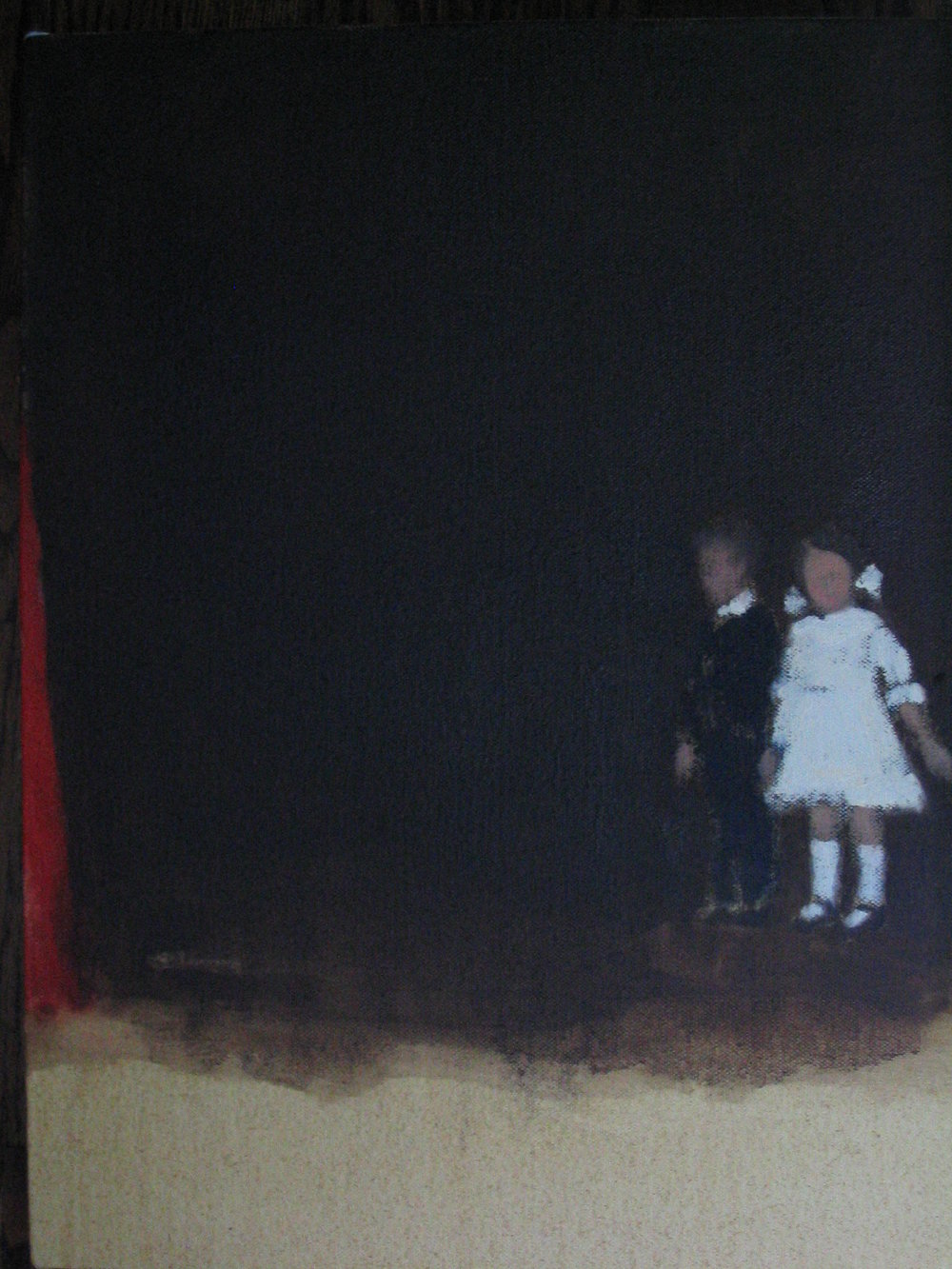 Crimson (hold tight) oil on canvas 14 x 11 in. 2005