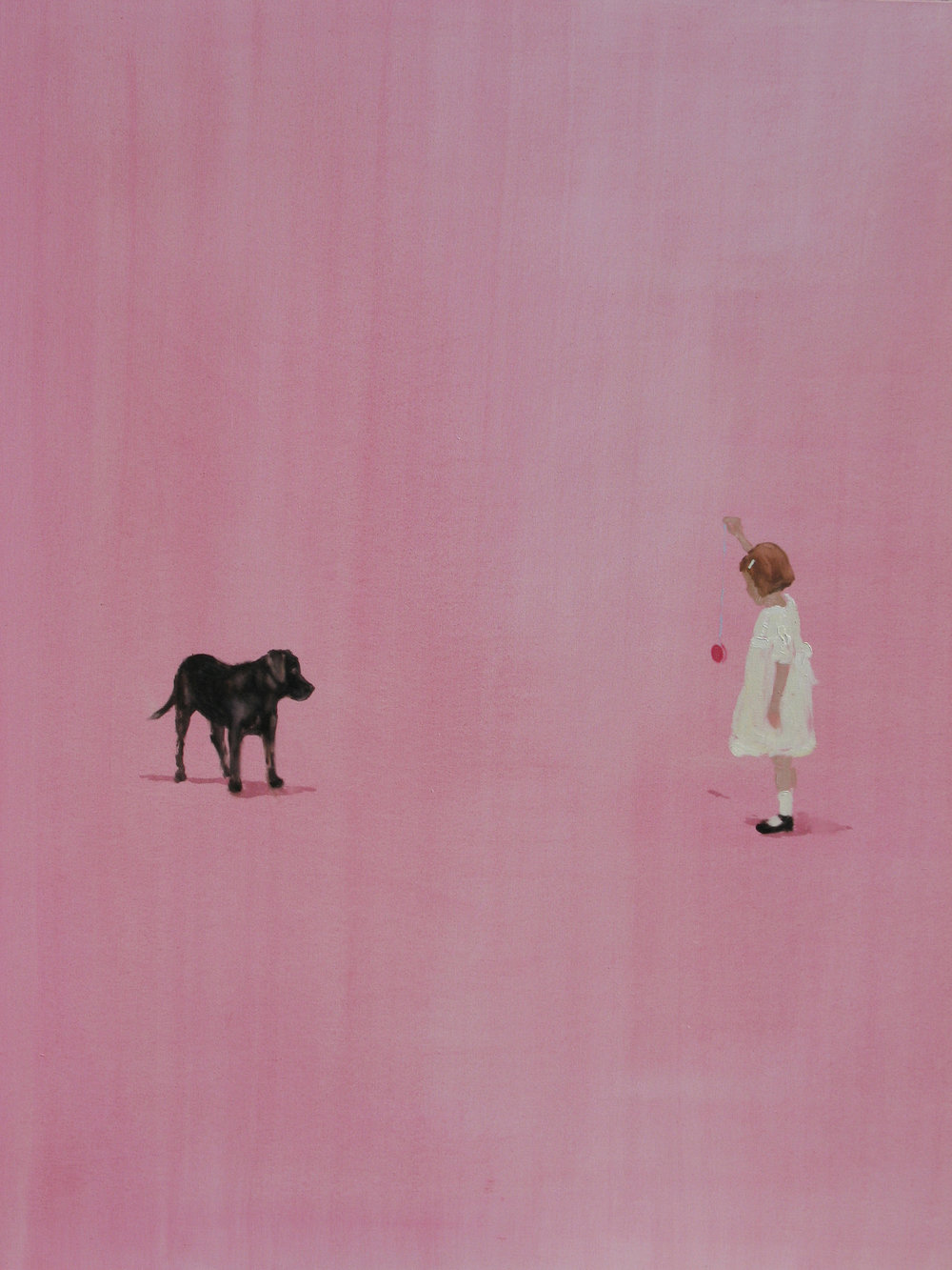 Painted Room (lucky puppy) 44 x 38 in. oil on canvas 2008