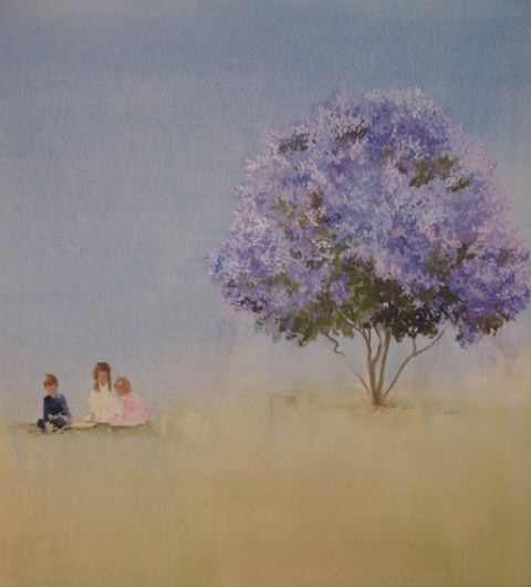 Window Seat (letters and lilacs), 2008, 35 [1].5 x 33.5 in..jpg