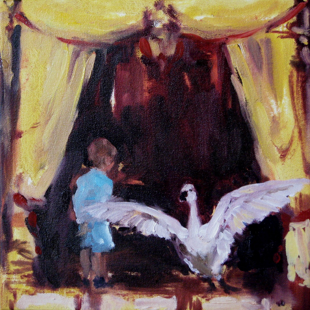 Canopy (popcorn) 8 x 8 in. oil the canvas 2010