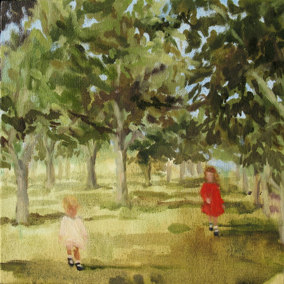 Canopy (a chance to say) 8 x 8 in. oil on canvas 2010
