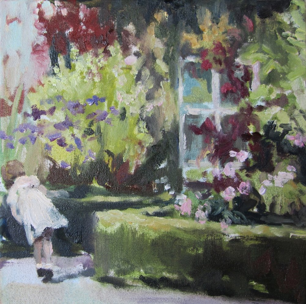 Story Heart (hide and seek) 8 x 8 in. oil on canvas 2011
