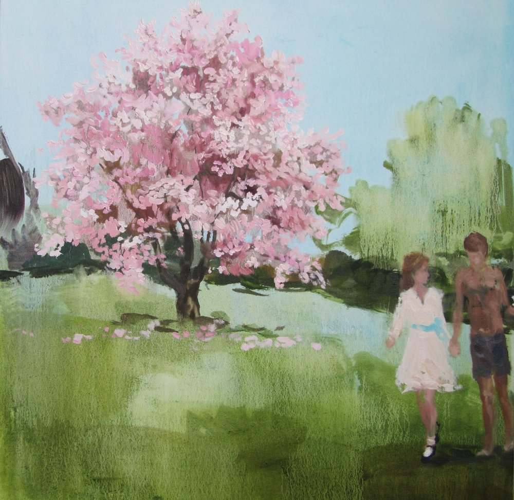 Story Heart (melting Magnolia) 24 x 24 in. oil on canvas 2011