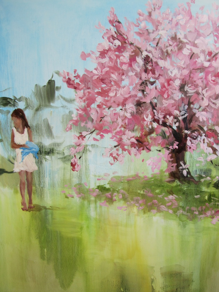 Story Heart (sweet, sweet Magnolia) 60 x 48 in. oil on canvas 2011