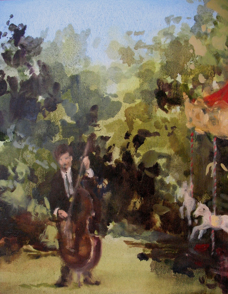 Velvet Carousel (for every story) oil on linen 14 x 11 in. 2010