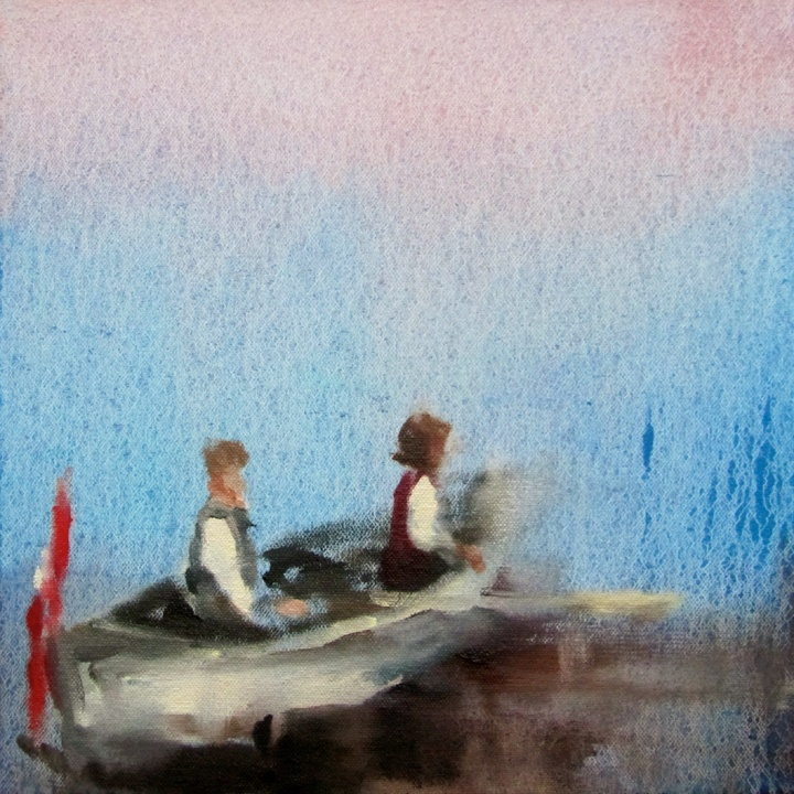 In blush time (caught your breath) oil on canvas 8 x 8 in. 2012