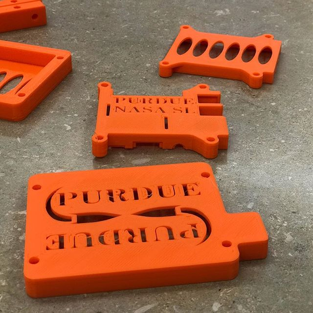 NASA SL team is preparing for their subscale launch this week.  Here is a look at their 3D printed avionics holders.  #science #engineering #3dprinting #nasa