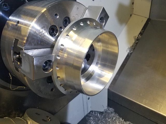 Thank you @arconic for donating material for our engine flange!  Today we have fished the flight flange for the lox-lch4 engine to fly #boomiezoomie #rockets #engineering #space #science #machining #lifeatpurdue #purdue
