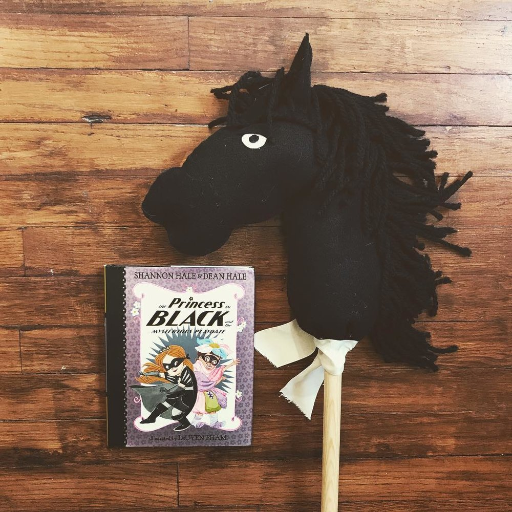 The Princess in Black  series by Shannon and Dean Hale illustrated by LeUyen Pham
