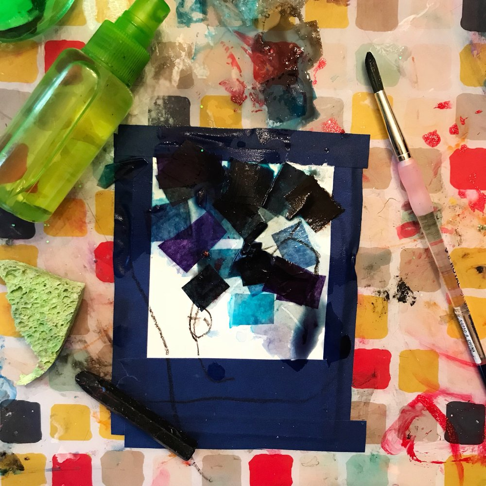 Hazel managed to add a few more art supplies to the mix... that's what usually happens around our house...