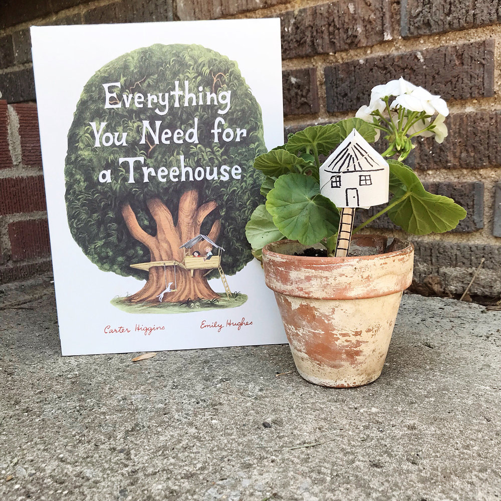 Everything You Need for a Treehouse  by Carter Higgins illustrated by Emily Hughes