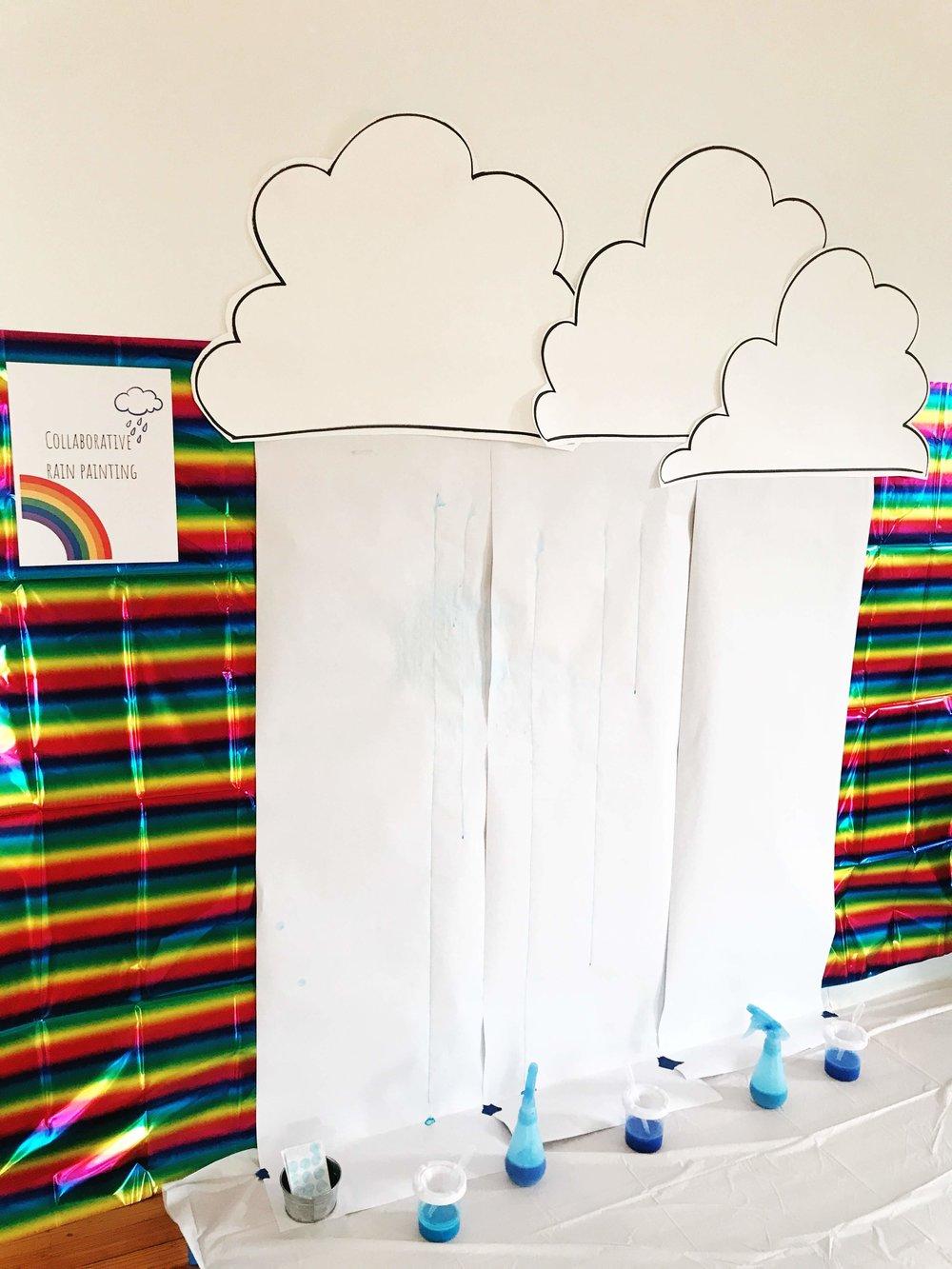 Collaborative Rain Painting