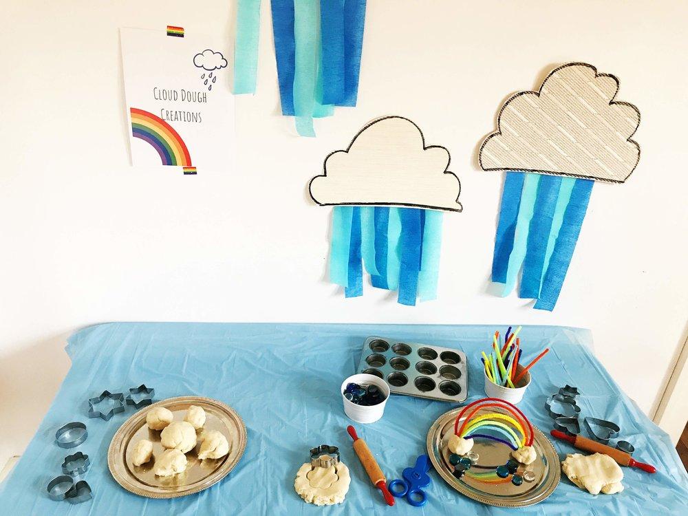 Cloud Dough Creation Station