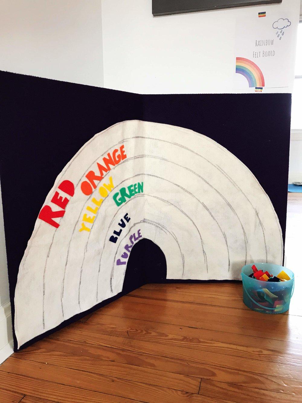 Rainbow Felt Board