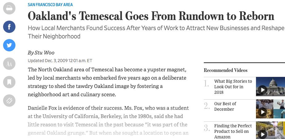 Oakland's Temescal Goes From Rundown to Reborn: -